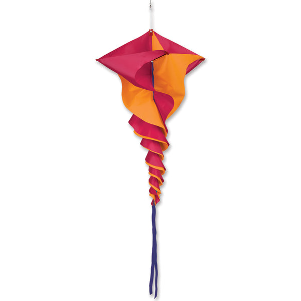 SoundWinds David Ti Large Rotini Spinning Windsock - Orange