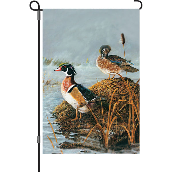 12 in. Flag - Steamy Wood Ducks