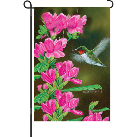 12 in. Flag - Opening Day Hummingbird