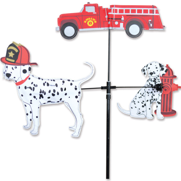 Single Carousel Spinner - Fire Truck & Dalmations