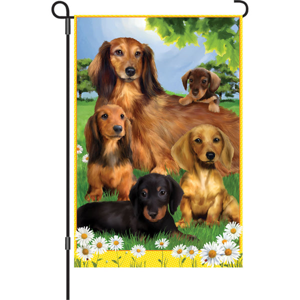 12 in. Flag - Dachshund Quintet