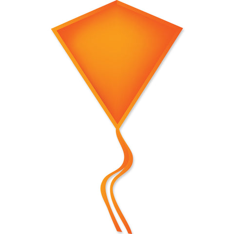 30 In. Diamond Kite - Neon Orange (Bold Innovations)