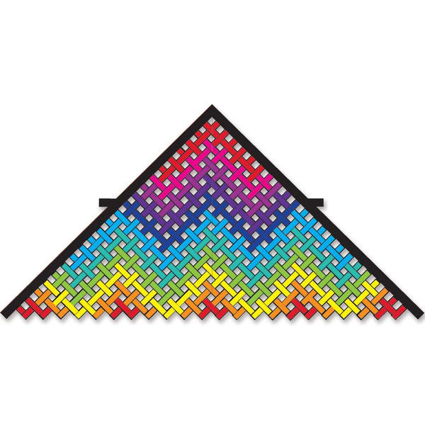11 ft. Mesh Delta Kite - Rainbow Water