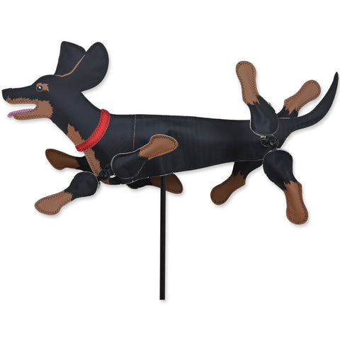 WhirliGig Spinner - 20 in. Black & Tan Dachshund