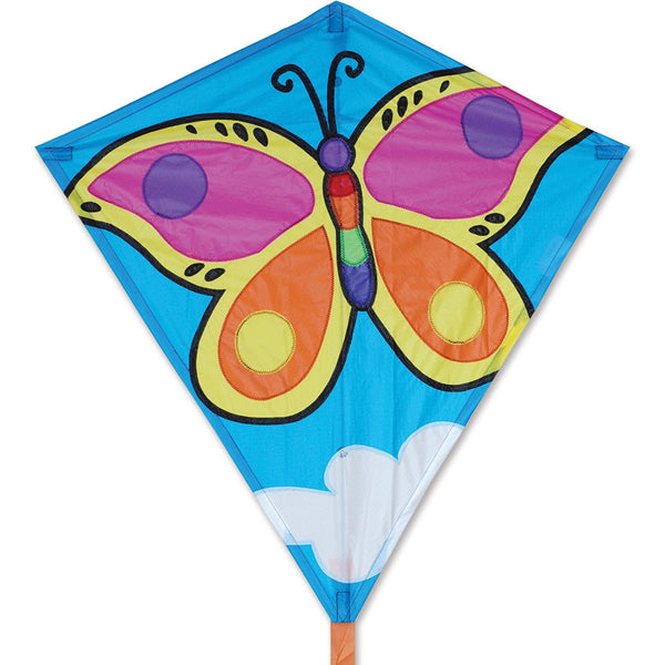 30 in. Diamond Kite - Briliant Butterfly