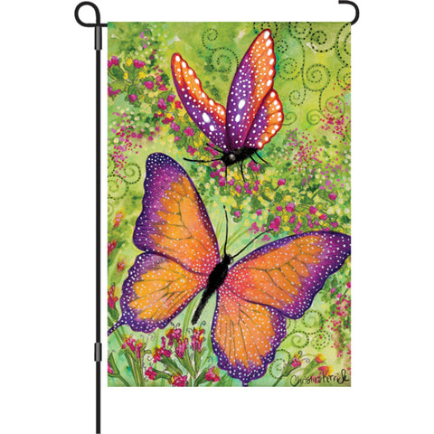 12 in. Flag - Butterfly Sparkles
