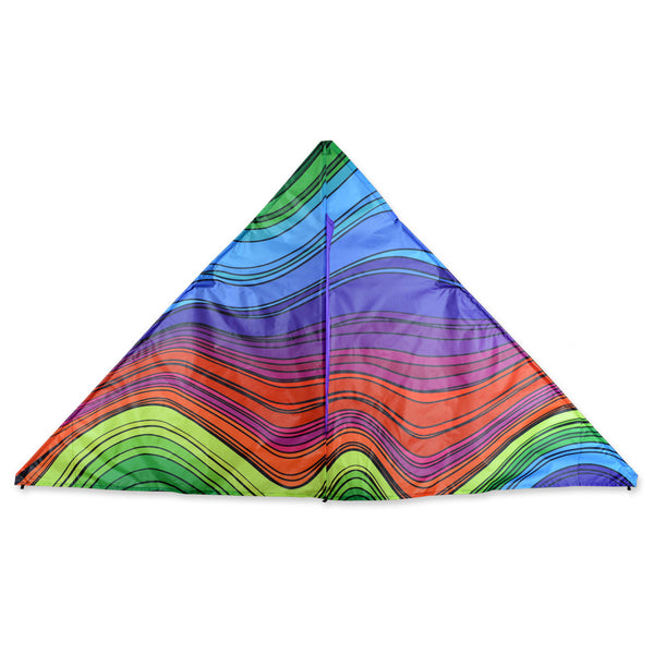 6.5 ft. Delta Kite -  Electromagnetic Rainbow
