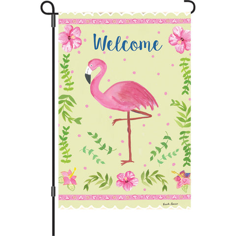 12 in. Flag - Coastal Flamingo