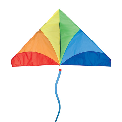 56 In. Delta Kite - Traditional Rainbow (Bold Innovations)