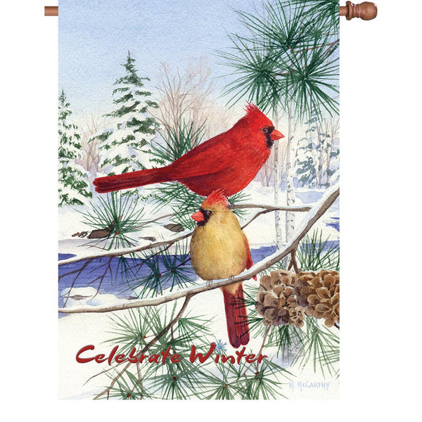 28 in. Flag - Cedar Farm Cardinals