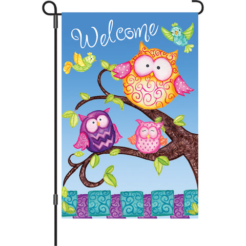 12 in. Flag - Welcome Owls