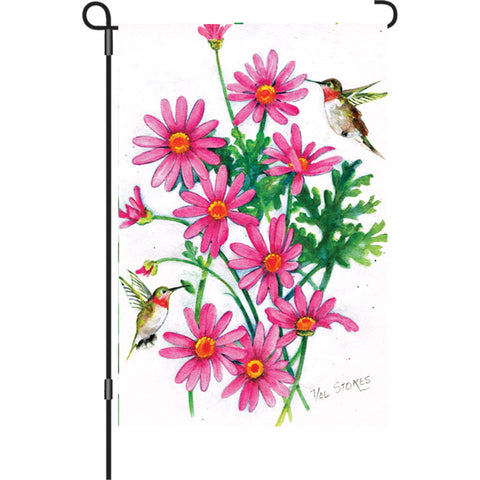 12 in. Flag - Pink Daisies