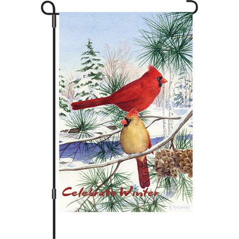 12 in. Flag - Cedar Farm Cardinals