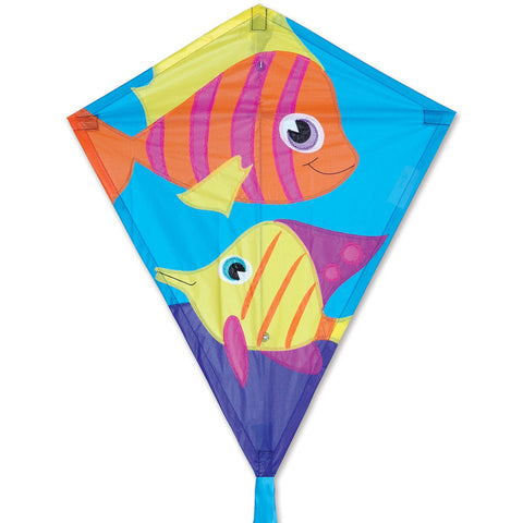 25 in. Diamond Kite - Funny Fish