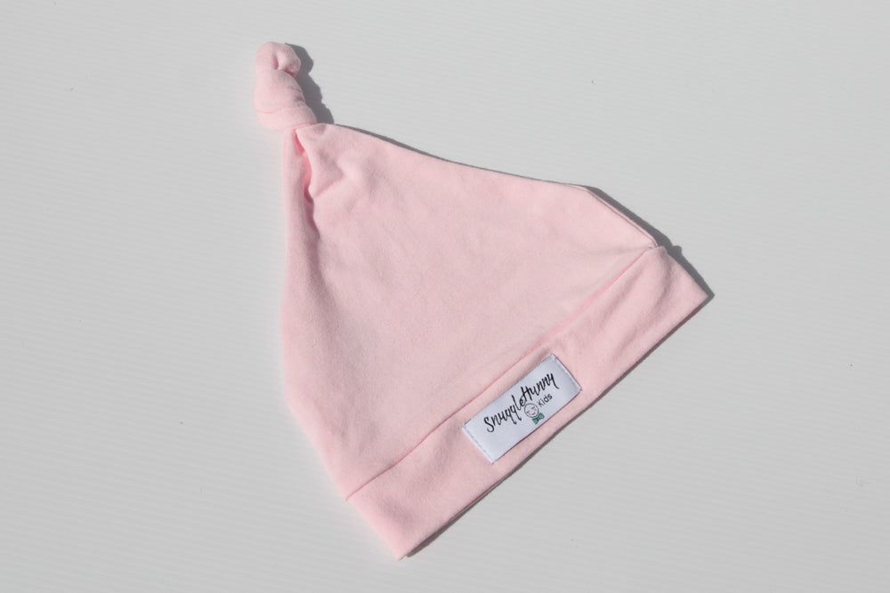 Load image into Gallery viewer, Knotted Baby Beanie Pink