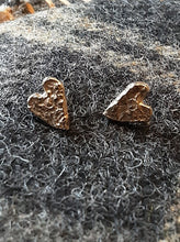 Load image into Gallery viewer, Teenie Heart of Gold Stud Earrings