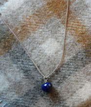 Load image into Gallery viewer, Single faceted Stone pendant silver was £54 NOW £27