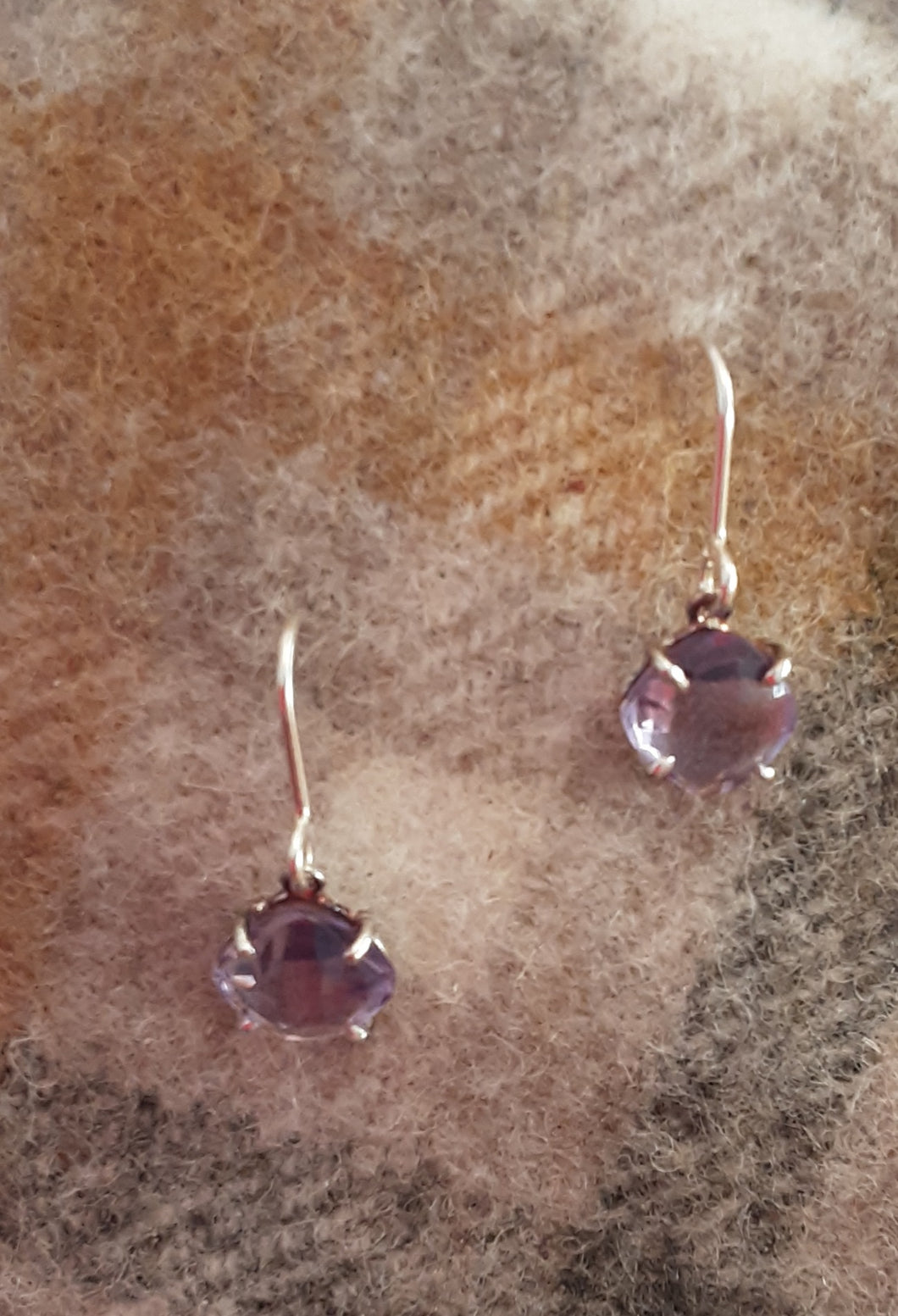 Cushion cut single stone earrings silver were £85 NOW £42.50