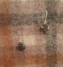 Load image into Gallery viewer, Cushion cut single stone earrings silver were £85 NOW £42.50