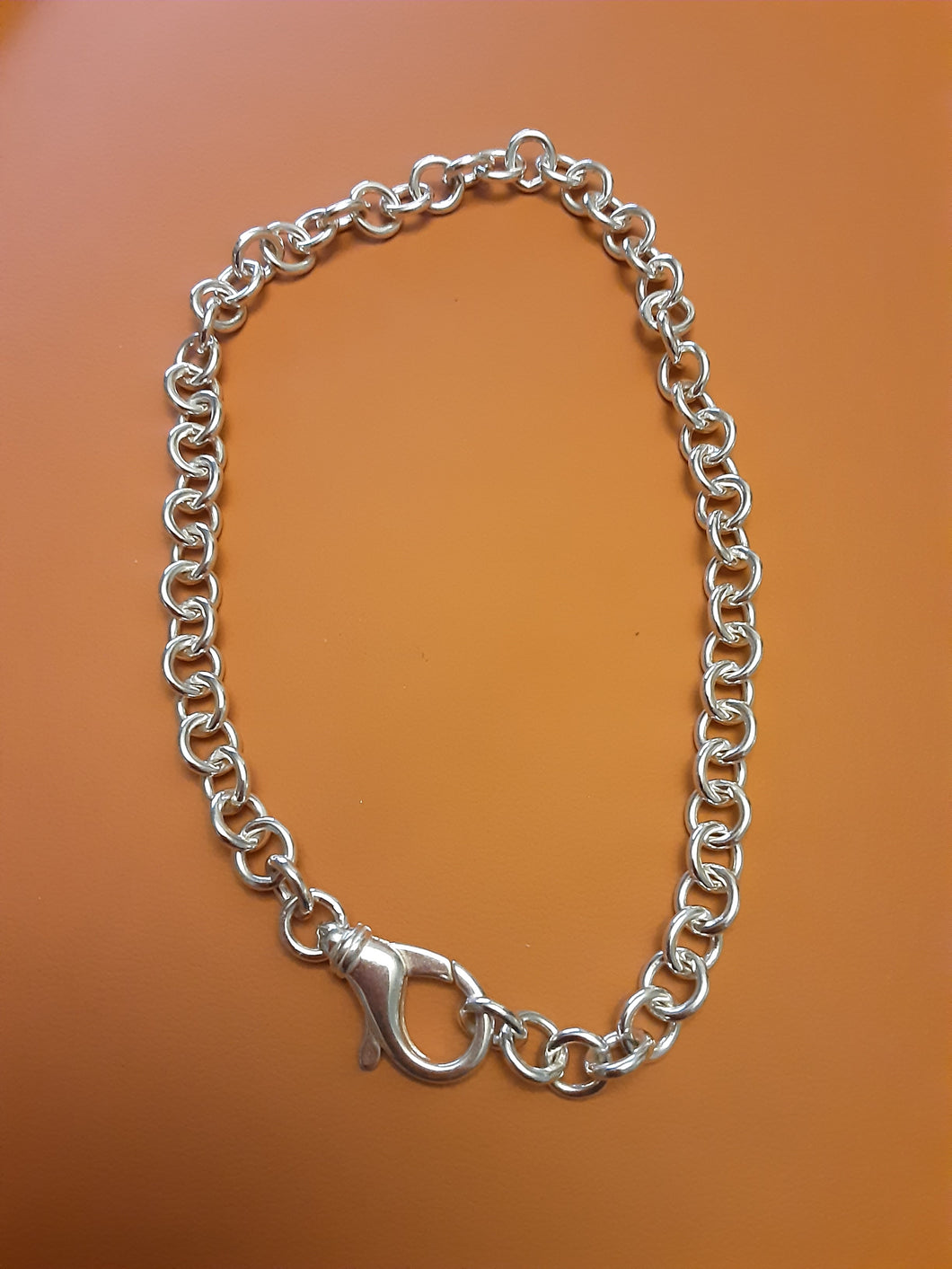 Silver Chunky Cable chain 16