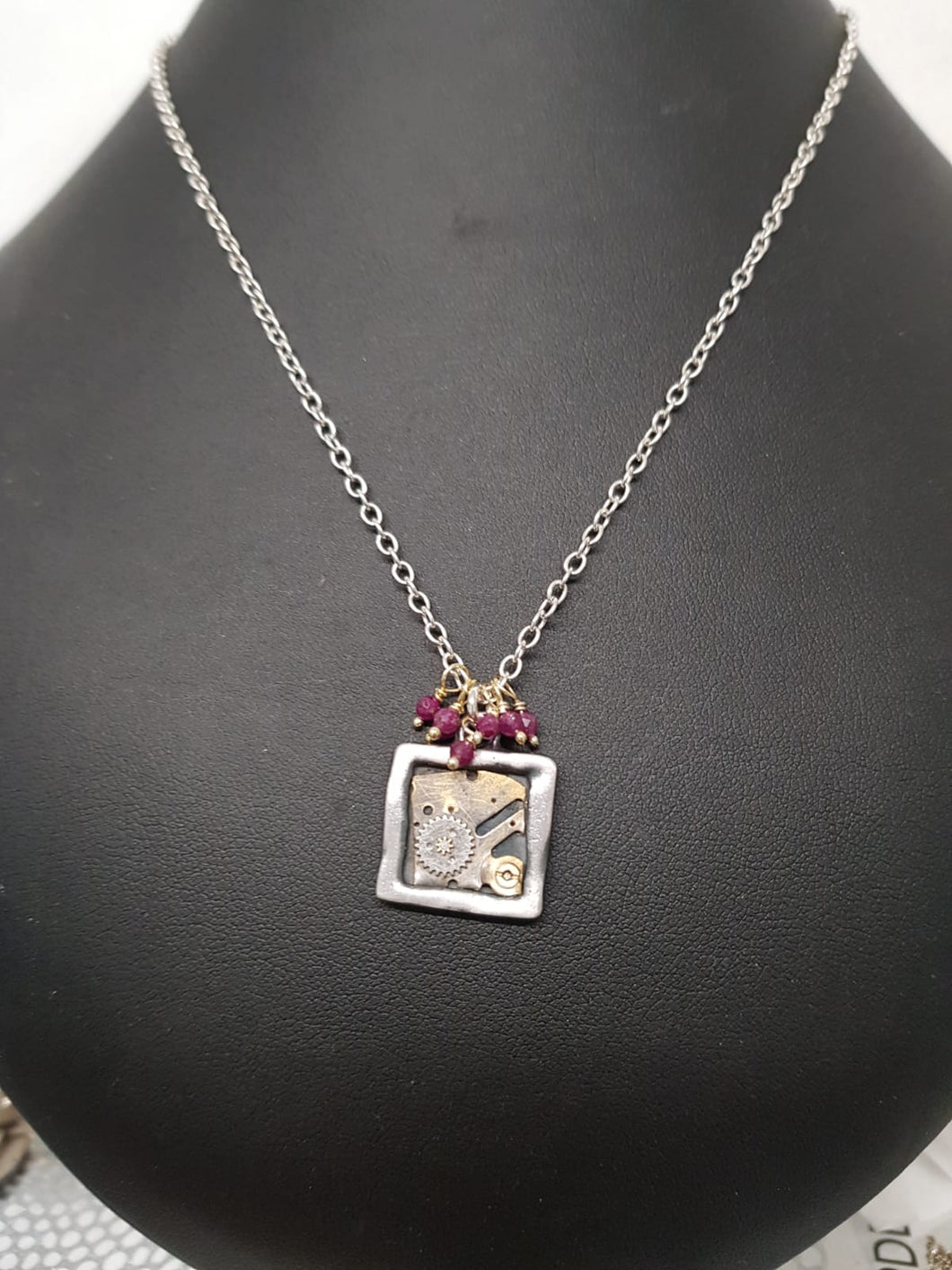 Clockworks Limited Edition Pendant Silver Ruby S18t