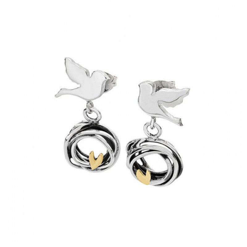 Three little birds stud drop earrings - SB1