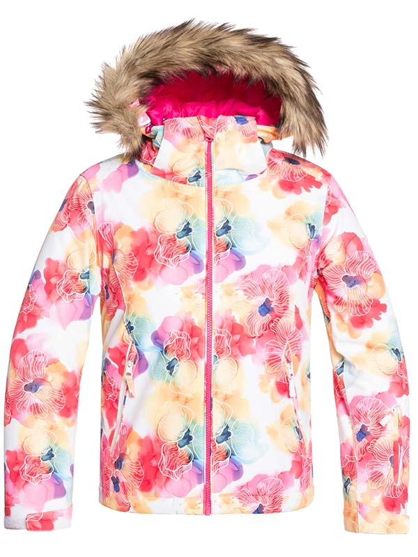 Roxy American Pie Jacket Bright White Sunshine Flowers