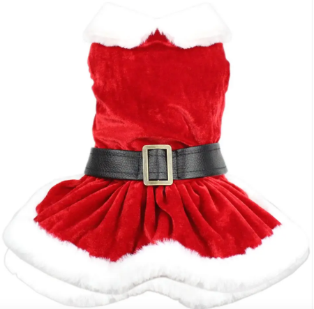 Mrs Claus Suede Christmas Dress