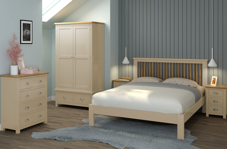 Dorset 2 Door Wardrobe - Pebble