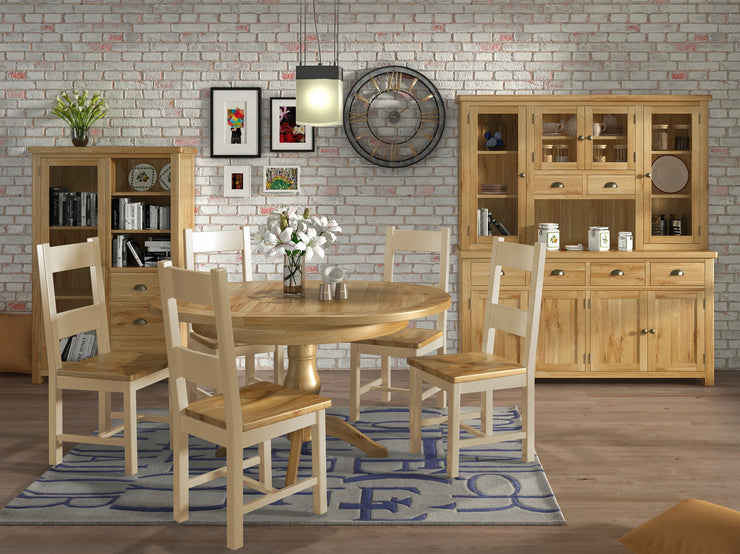 Dorset Round Butterfly Ext Table - Oak
