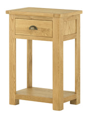 Dorset 1 Drawer Console Table - Oak