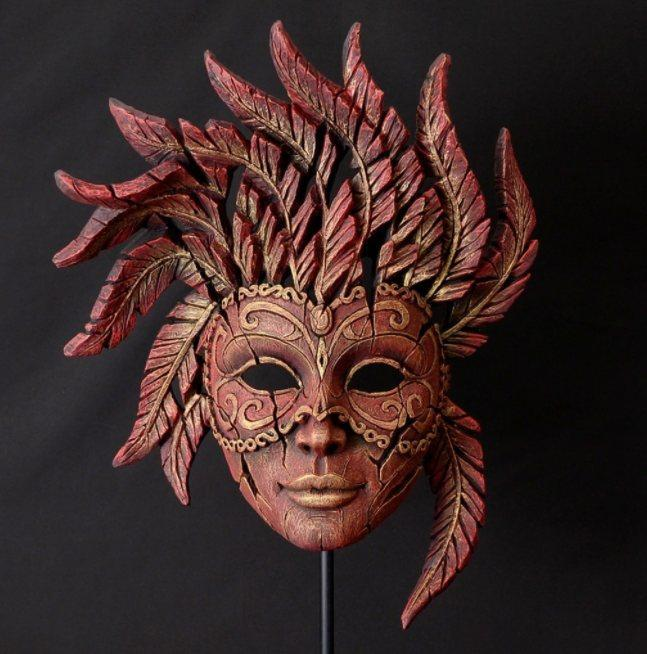Edge Red Masquerade Carnival Mask