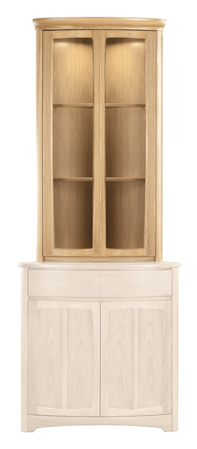 Nathan Shades Oak Shaped Corner Display Top Unit
