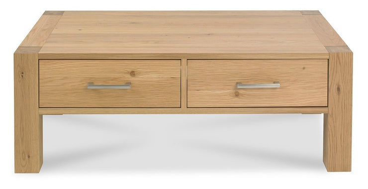 Milan Light Oak Coffee Table With Drawers