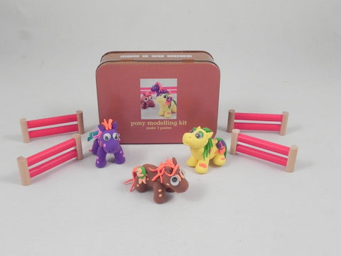 Pony Modelling Kit - Gift in a tin