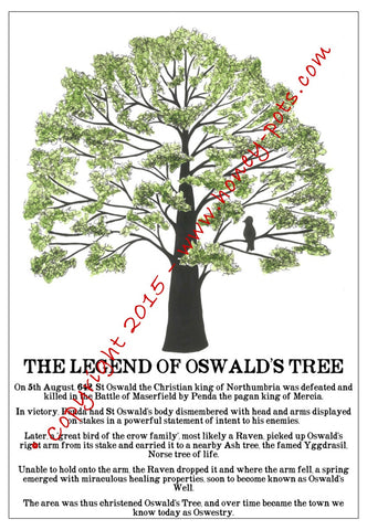 The Legend of Oswald's Tree Postcard