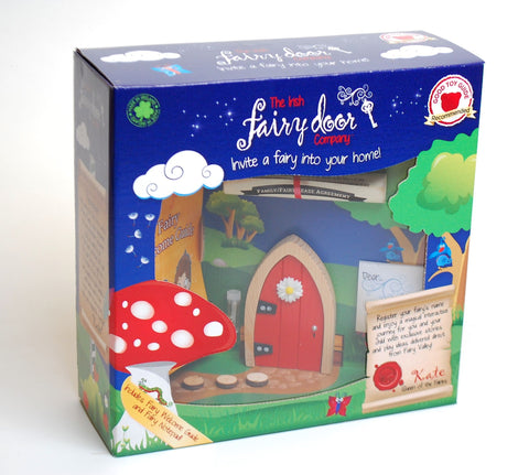 Red arched Fairy door