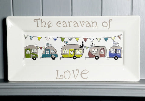 Caravan of love - Ceramic Rectangle plate