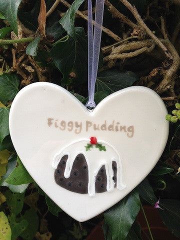 Figgy Pudding - Ceramic Heart