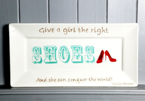Give a girl the right shoes - Rectangle plate