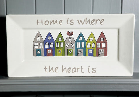 Home is where the heart is - Ceramic rectangle plate