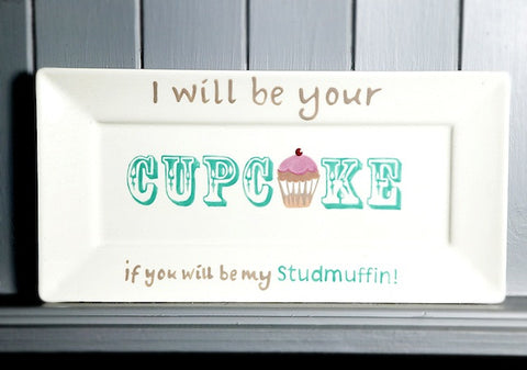 I will be your cupcake - Rectangle plate