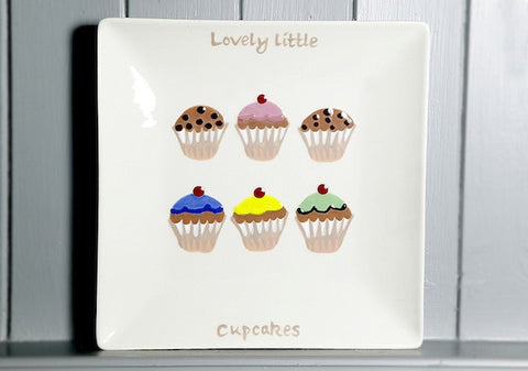 Lovely little cupcakes - Large - Square plate
