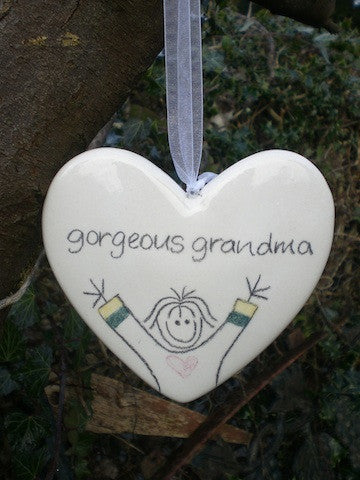 Gorgeous Grandma - Ceramic Heart