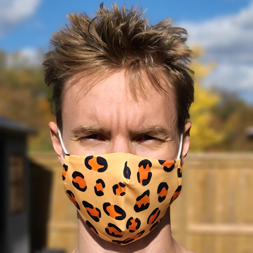 Leopard King Face Condom