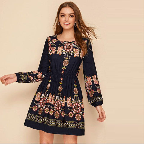 Cotton Dress Bohemian