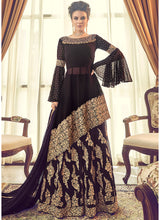 Embroidered Sharara Suit with Asymmetric Kameez