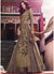 Brown Embroidered Anarkali Lehenga