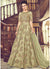 Embroidered Net Anarkali in Pastel Green