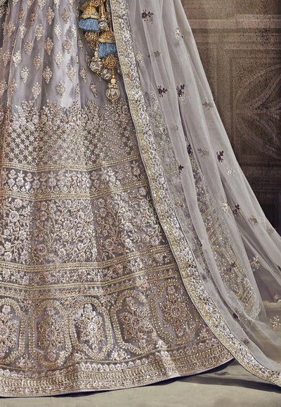 Embroidered Net Party Wear Lehenga